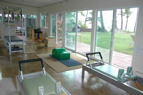 Arlene Saloman's Pilates Studio on the beach in Kihei